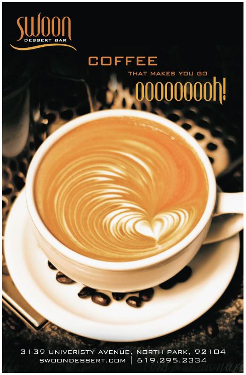Swoon Dessert bar coffee ad
