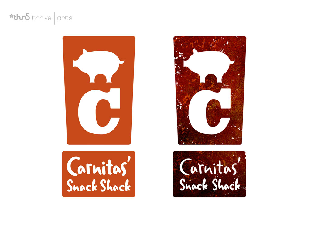 Logo Carnitas Snack Shack Thrive Arts