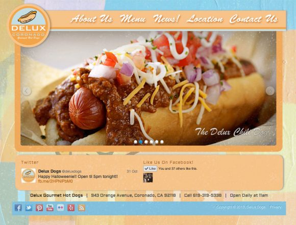 Delux Gourmet Hot Dogs